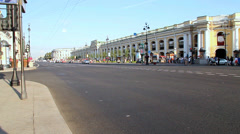 Russia, Saint-Petersburg, Nevsky prospekt - is the main street in the city Stock Footage