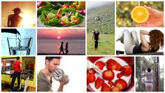 Healthy life montage Stock Footage