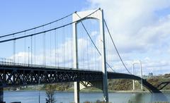 Quebec City's Pierre Laporte Bridge - stock photo