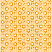 orange flower wallpaper - stock illustration