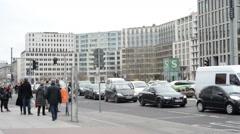 Traffic at Berlin Potsdamer Platz Stock Footage