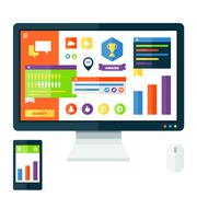 User Interface display Stock Illustration