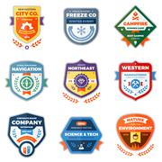Modern badge graphics Piirros