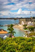 View from Lookout Point, in Corona del Mar, California. Stock Photos