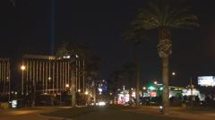 Las Vegas Strip hotel resort american fun destination tourism attraction iconic  Stock Footage