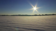 Time lapse of sunset over the idyllic snow landscape Stock Footage