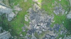 Stock Video Footage of Pre-romanesque church ruins Rotonda, aerial