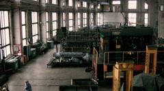Railway maintenance depot Stock Footage