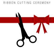 Ribbon Cutting Ceremony Stock Illustration