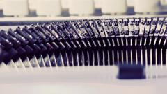 CU old typewriter, vintage writer concept HD 1080p Stock Footage