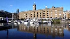 St Katharine's Dock London 18 Stock Footage