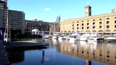 St Katharine's Dock London 20 Stock Footage