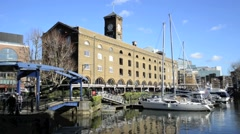 St Katharine's Dock London 1 Stock Footage