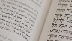 Hebrew and english Bible Stock Footage