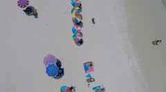 Beach from above sunny Stock Footage