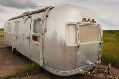 Airstream Trailer - stock photo