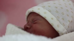 Close-up of newborn Stock Footage