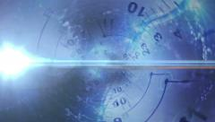 Clocks, Time Travel Concept, Door Gate, with Alpha Channel, Loop  Stock Footage
