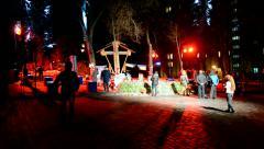 Euro maidan Memory days in Kiev, Ukraine. Stock Footage