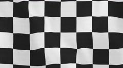 Loopable: Racing Flag Waving in Wind Stock Footage