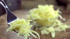 Grated Emmental (not loopable) Stock Footage