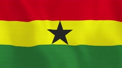 Loopable: Flag of Ghana - stock footage