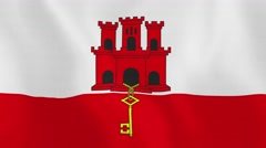 Loopable: Flag of Gibraltar Stock Footage