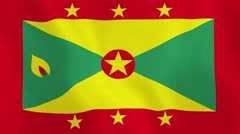 Loopable: Flag of Grenada Stock Footage