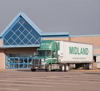 Midland Transport Truck - stock photo