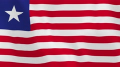 Loopable: Flag of Liberia Stock Footage
