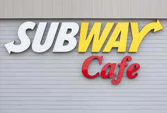 Subway Cafe Sign Stock Photos