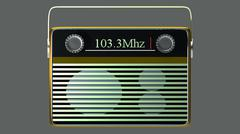 portable radio - stock illustration