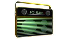 Stock Illustration of portable radio