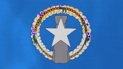Loopable: Flag of Northern Mariana Islands Stock Footage