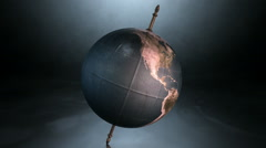 Tilted earth globe spin 2 Stock Footage