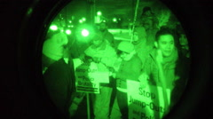 Late night march against Police Brutality Stock Footage