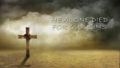 Wind Swept Cross with text Stock Footage