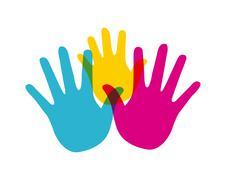 Stock Illustration of diversity hands design, vector illustration eps10 graphic