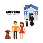 Stock Illustration of adoption agency design, vector illustration eps10 graphic