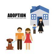 Adoption agency design, vector illustration eps10 graphic Stock Illustration