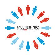 Stock Illustration of multiethnic people design, vector illustration eps10 graphic