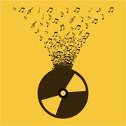 music lifestyle design, vector illustration eps10 graphic - stock illustration
