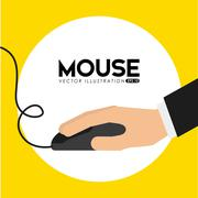 mouse computer design, vector illustration eps10 graphic - stock illustration