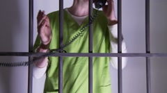 Last Phone Call in Prison (2 of 2) Stock Footage