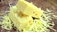 Stock Video Footage of Grated Emmental (not loopable)