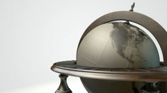 World globe vintage isolated new animation view 2 Stock Footage