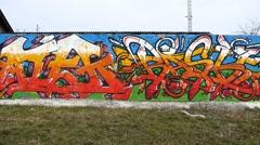 Graffiti Medium Shot - Colorful Graffiti Stock Footage