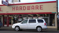An establishing shot of a hardware store. Stock Footage