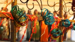 Temple appliances Bangles - stock footage