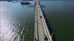 Flight over the bridge Florida Stock Footage